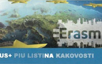 SFŠ Ljubljana je prejela Erasmus+ listino kakovosti